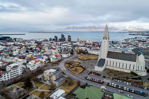 Hallgrimskirkja Church in Reykjavik